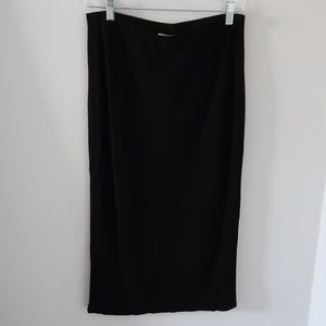 Lila Rose Black Stretch Pencil Skirt